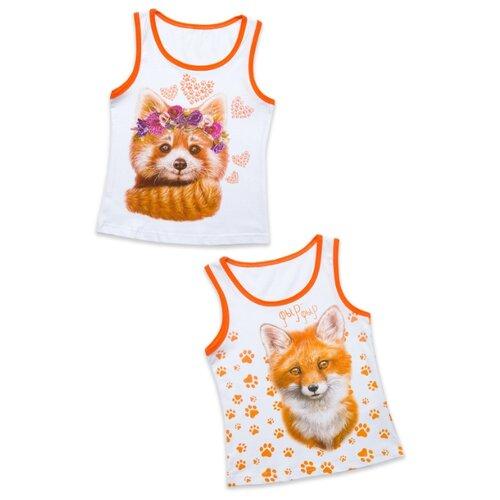 Купить Майка MF размер 128, белый/оранжевый, Футболки и майки
