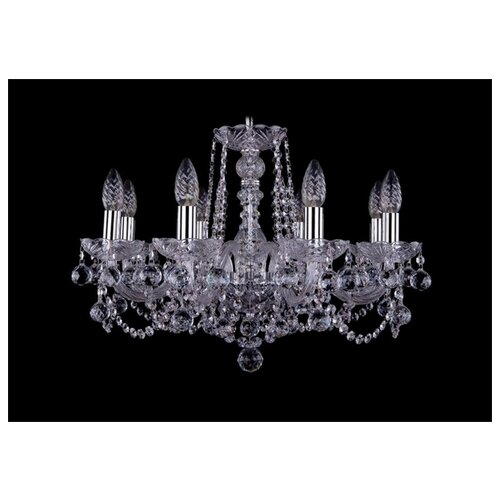 Люстра Bohemia Ivele Crystal 1402/8/195/Ni/Balls, E14, 320 Вт люстра bohemia ivele crystal 1716 8 8 4 265b gb