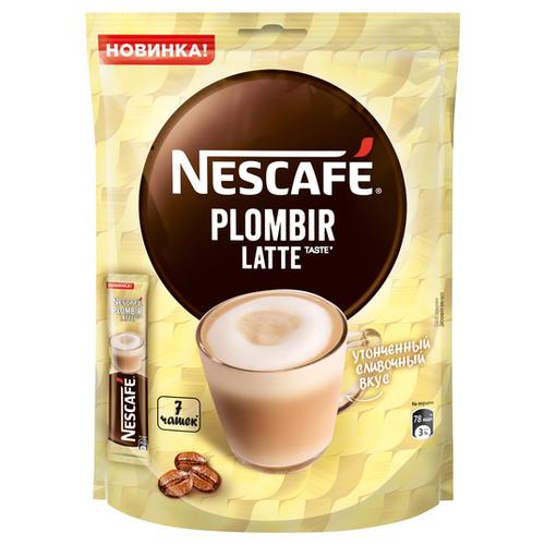 Растворимый кофе Nescafe Latte пломбир, в стиках (7 шт.) растворимый кофе nescafe 3 в 1 крепкий в стиках 20 шт