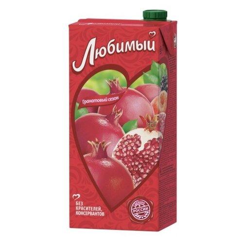 Напиток сокосодержащий Любимый Яблоко-Гранат-Черноплодная рябина, с крышкой, 0.95 л напиток сокосодержащий любимый яблоко вишня черешня 0 95 л