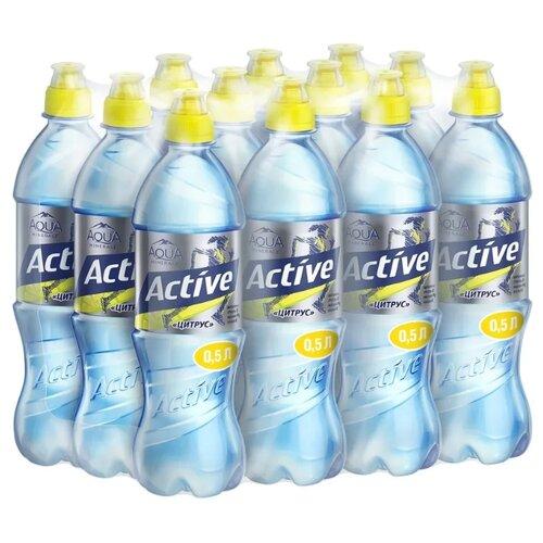 Фото - Вода питьевая Aqua Minerale Active негазированная Цитрус, спорт ПЭТ, 12 шт. по 0.5 л вода aqua minerale малина 500 мл