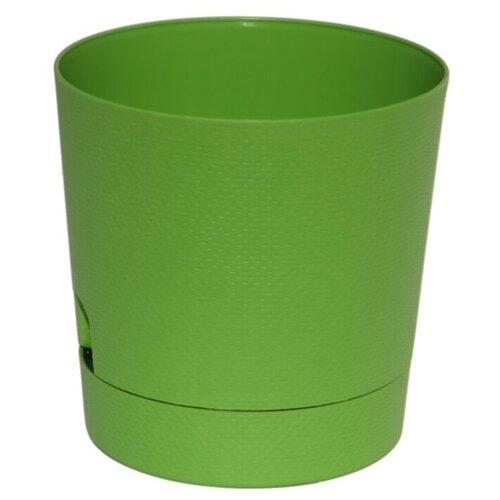 Горшок ТЕК.А.ТЕК Wafle 520, 2.8 л, 17.5х17.5 см темно-зеленый