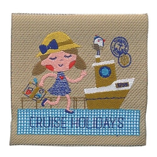 Термоаппликация HKM Textil В круиз на каникулы 6.5x6.5 см бежевый салфетка protec textil lino 30 43 см бежевый
