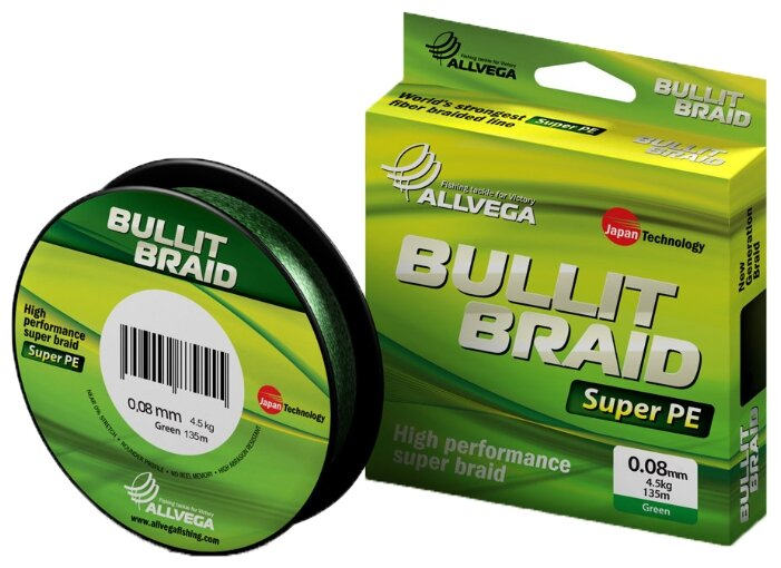 Плетеный шнур ALLVEGA BULLIT BRAID