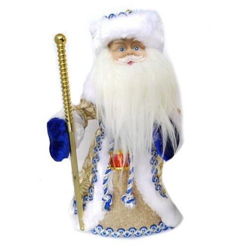 Фигурка Новогодняя Сказка Дед мороз музыкальный 30 см (973520) синий фигурки magic time фигурка новогодняя дед мороз с зайчиком 75531
