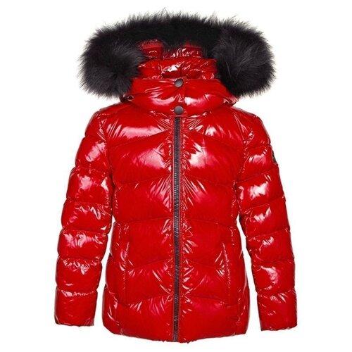Пуховик Tre Api размер 170, красный платье oodji ultra цвет красный белый 14001071 13 46148 4512s размер xs 42 170