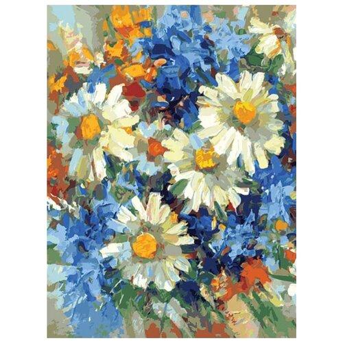 Купить Картина по номерам Солнечные ромашки , 30x40 см, Белоснежка, Картины по номерам и контурам