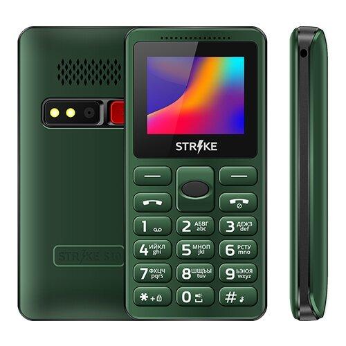 Телефон Strike S10 зеленый телефон