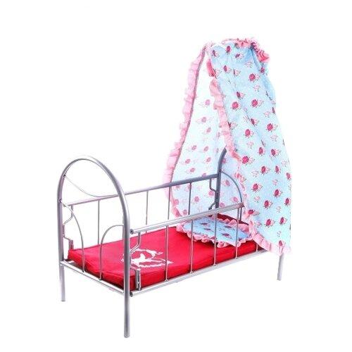 Купить Mary Poppins Кроватка с балдахином Lady Mary (67334) красный/голубой, Мебель для кукол
