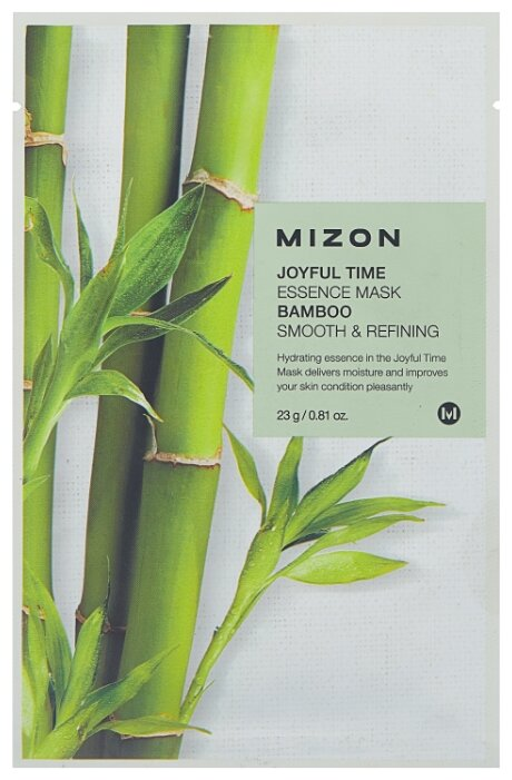 Mizon Joyful Time Essence Mask Bamboo тканевая маска с экстрактом стебля бамбука