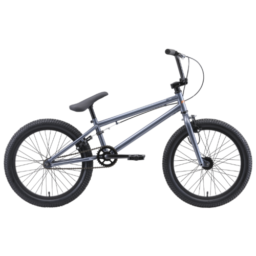 Велосипед BMX STARK Madness BMX 1 (2020) серый/оранжевый (требует финальной сборки)