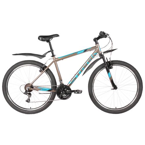 Горный (MTB) велосипед STARK Outpost 26.2 V (2020) коричневый/синий/черный 16 (требует финальной сборки) велосипед stark vesta 26 3 v зелено желтый 16