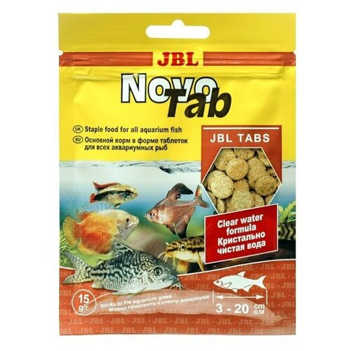 Фото - Сухой корм для рыб JBL NovoTab, 15 г сухой корм для рыб jbl novopleco 53 г