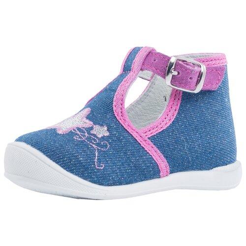 Туфли КОТОФЕЙ размер 18, 22 голубой/розовый туфли котофей размер 22 12 голубой