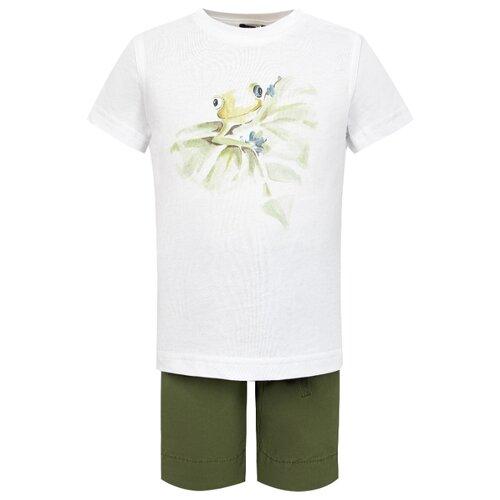Комплект одежды Il Gufo размер 104, белый/зеленый