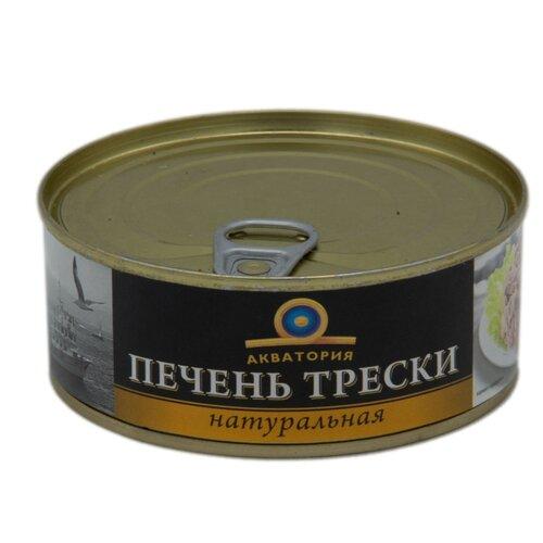 Акватория Печень трески натуральная, 230 г печень трески по мурмански goldfish 190г
