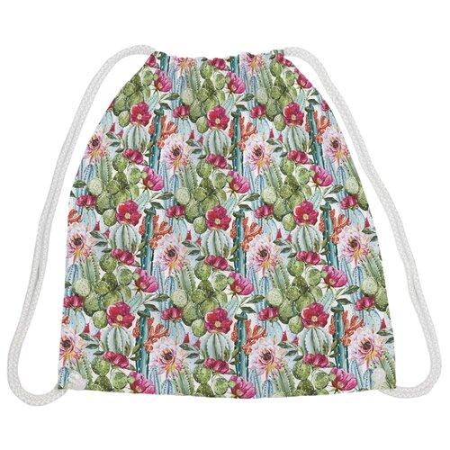 Купить JoyArty Сумка-рюкзак Поле с кактусами (bpa_26573) зеленый/красный, Мешки для обуви и формы