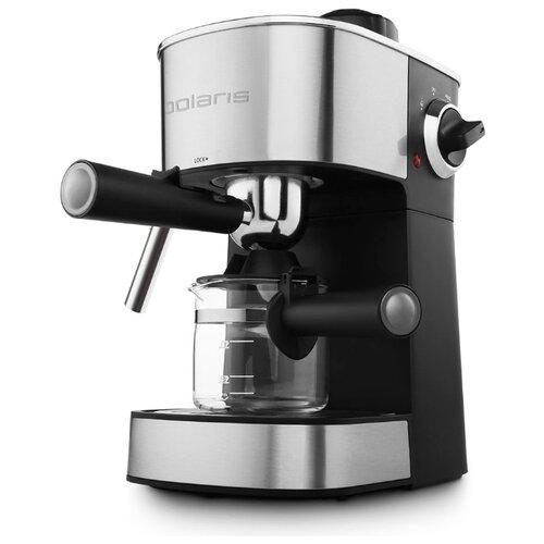 Кофеварка рожковая Polaris PCM 4009 серебристый/черный