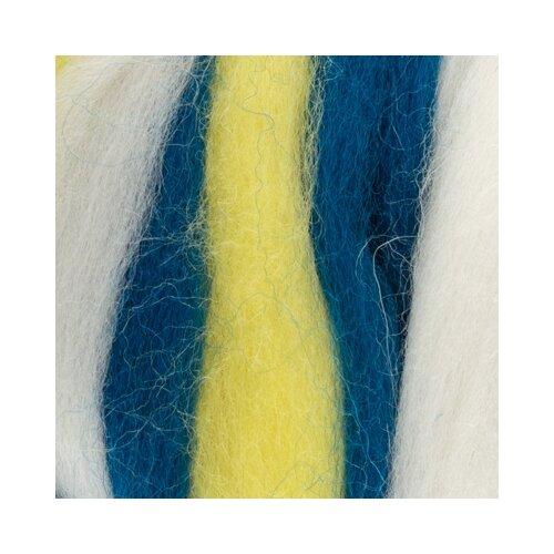 Фото - Валяние - шерсть Gamma MY-050 Шерсть для валяния 100% полутонкая шерсть 50 г №6036 желтый/белый/т.синий валяние шерсть gamma my 050 шерсть для валяния 100% полутонкая шерсть 50 г 6114 винный мальва св фиалка