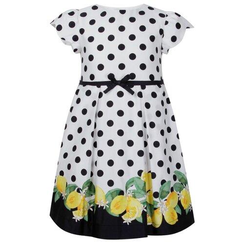 Купить Платье Mayoral размер 92, горошек/белый/синий/желтый, Платья и юбки