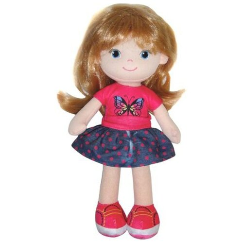Купить Мягкая игрушка ABtoys Кукла блондинка в синей юбочке 32 см, Мягкие игрушки