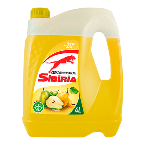 Жидкость для стеклоомывателя SIBIRIA Дюшес -20°C 4 л.