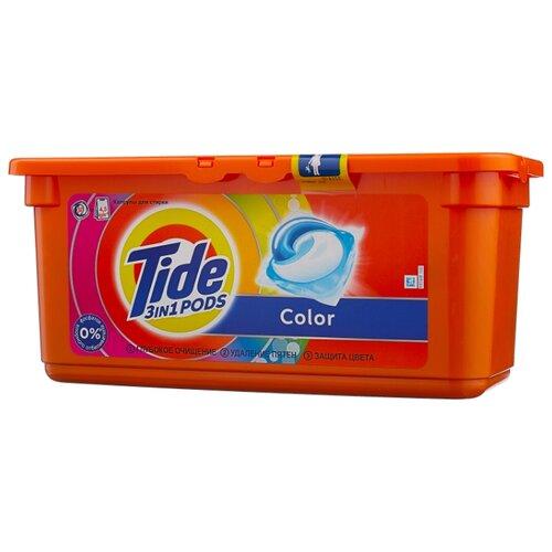 Капсулы Tide Color, контейнер, 30 шт капсулы альпийская свежесть tide