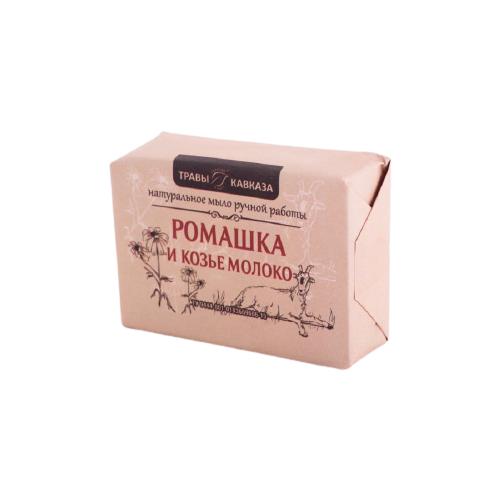Мыло кусковое ручной работы Травы Кавказа Ромашка и козье молоко, 110 г