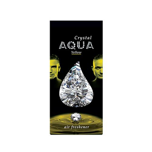 Aqua Ароматизатор для автомобилей Crystal Drop Yellow 12 г Aqua   фото