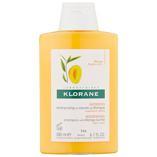 Klorane шампунь Nutrition and Hydration with mango butter 200 мл klorane шампунь oil control shampoo with nettle 200 мл