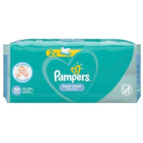 Фото - Влажные салфетки Pampers Fresh Clean липучка 104 шт. салфетки pampers детские влажные салфетки sensitive 104 шт