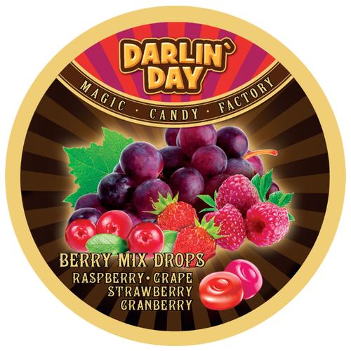 Карамель леденцовая DARLIN'DAY Berry mix со вкусом малины, винограда, клубники, клюквы 180 г сладкая сказка candy lane карамель леденцовая капучино 200 г