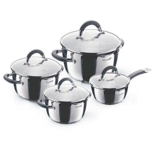 Набор посуды Rondell Flamme RDS-040 8 пр. стальной