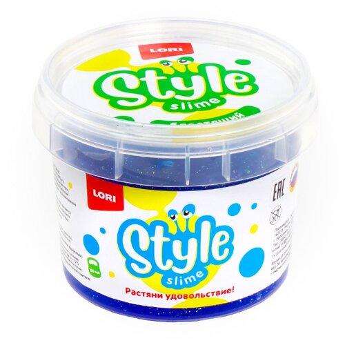 Лизун LORI Style Slime блестящий с ароматом тутти-фрутти синий