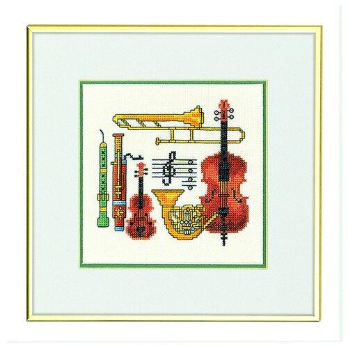 Купить Набор для вышивания Музыка, лён 26 ct 25 х 25 см 12-947, EVA ROSENSTAND, Наборы для вышивания