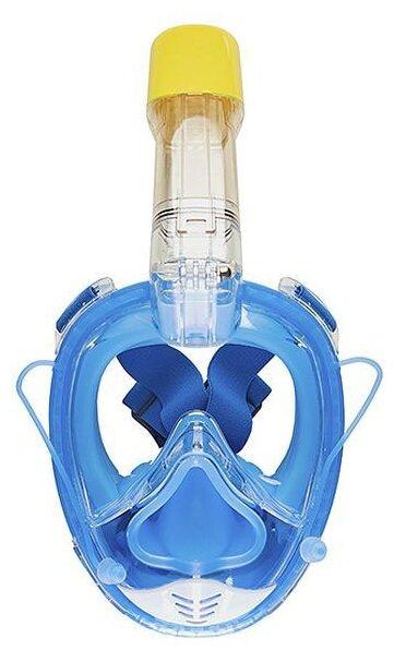 Маска для плавания LINNBERG Marine с силиконовым носом и возможностью декомпрессии голубой