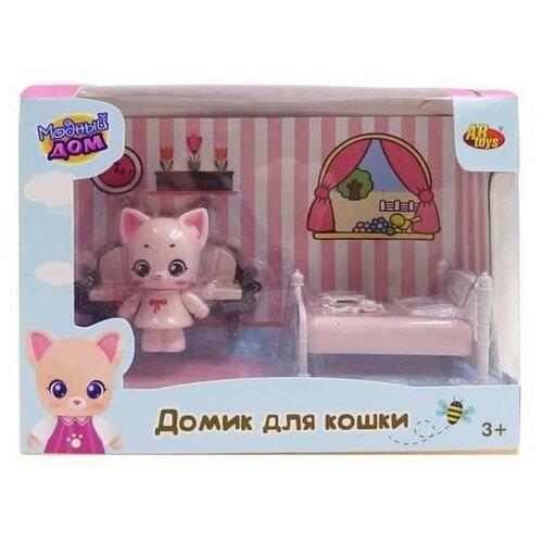 Игровой набор ABtoys Уютный дом - Домик для кошки. Спальня PT-01308