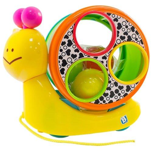 Купить Каталка-игрушка B kids Speedy's Magical Shell (004882) со звуковыми эффектами желтый/розовый/зеленый, Каталки и качалки