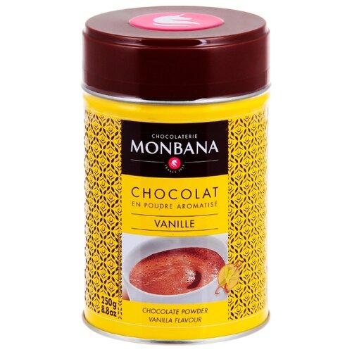 Monbana Горячий шоколад Ваниль, жестяная банка, 250 г