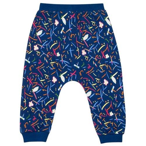 Купить Брюки Vorob'i Стрекозы v19-14006 размер 92, синий, Брюки и шорты