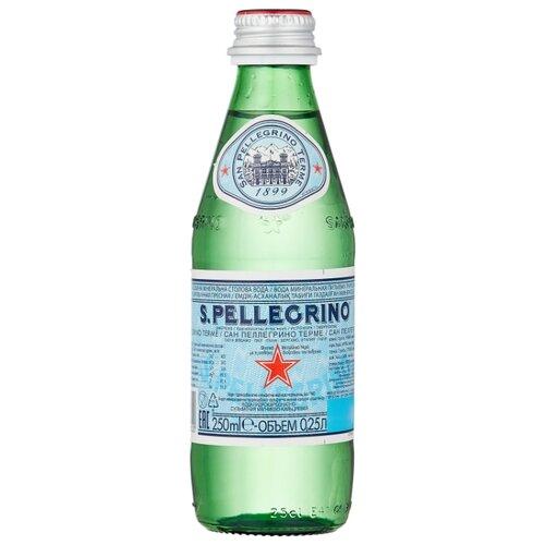 Минеральная вода San Pellegrino газированная, стекло, 0.25 л