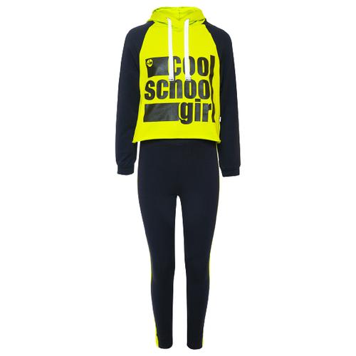 Купить Спортивный костюм Nota Bene размер 140, желтый/темно-синий, Спортивные костюмы