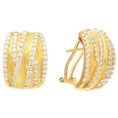 JV Серьги из золота с бриллиантами E12573-YG