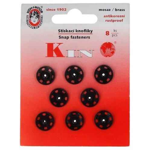 Фото - KOH-I-NOOR Кнопки пришивные (KIN1000 №4), черный, 12 мм, 8 шт. koh i noor готовальня 06905 4