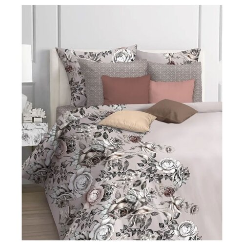 Фото - Постельное белье 1.5-спальное Mona Liza Caramel, бязь, 50 х 70 см серый/розовый mona