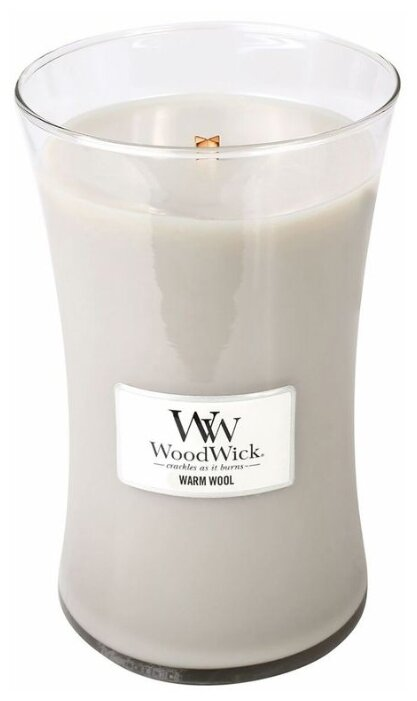 Свеча WoodWick Warm Wool (93052), большая