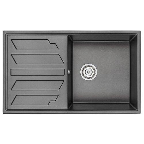 Фото - Врезная кухонная мойка 86 см Granula 8601 черный врезная кухонная мойка 57 5 см granula 5802 антик