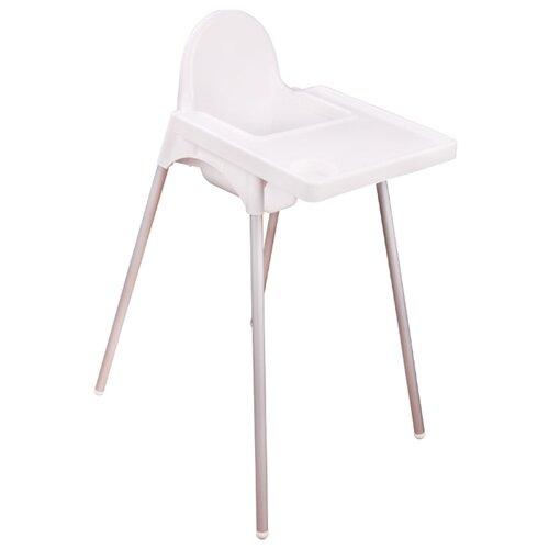 Стульчик для кормления Альтернатива с ремешком белый стульчик для кормления babys piggy розовый