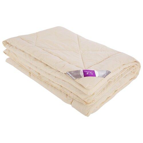 Одеяло Kupu-Kupu Овечья шерсть Classik, легкое, 140 х 205 см (сливочный) одеяло облегченное iv20338 овечья шерсть микрофибра 1 5 спальный 140 205