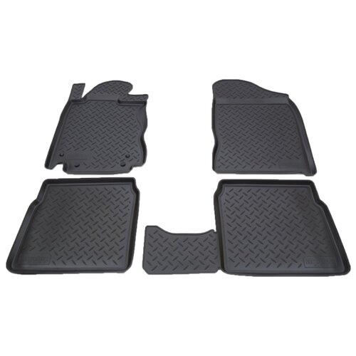 Комплект ковриков NorPlast NPL-Po-09-20 4 шт. черный